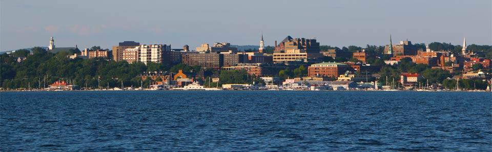 Burlington, on the shores of Lake Champlain